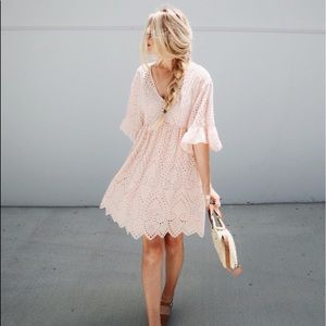 Anthropologie Akemi Kin Brooke Eyelet Dress